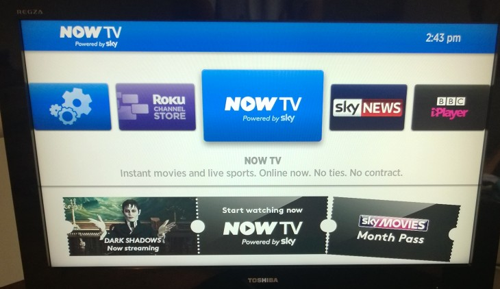 Now TV Menu 730x422 Review: Skys NOW TV box. We put this tiny £10 Roku device to the test