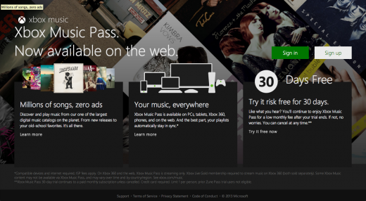 Screen Shot 2013 07 01 at 10.43.23 1 520x286 Microsoft launches Web based version of its Xbox Music service