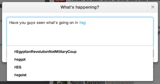 Screen Shot 2013 07 03 at 1.40.42 PM Twitter brings trending hashtag auto completion to the Web to drive more focused discussion
