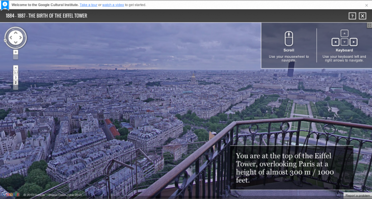 Screen Shot 2013 07 16 at 15.59.15 730x392 Google expands Street View to the top viewing platform of the Eiffel Tower for the first time