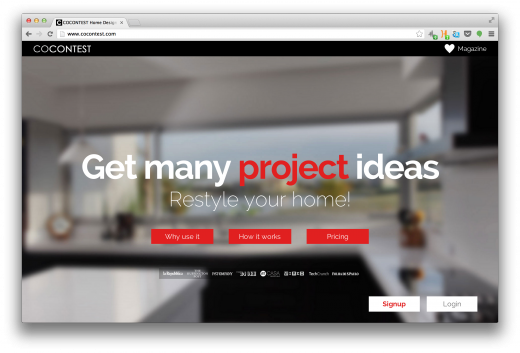 Screen Shot 2013 07 23 at 16.43.19 520x353 Crowdsourced interior design startup CoContest raises $200,000 as it eyes Latin America
