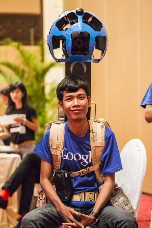 Street View trekker Cambodia 520x779 Google brings Street View to Cambodia and begins photographing historic Angkor Wat site