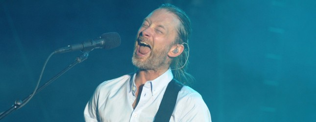 British musician and singer-songwriter Thom Yorke of the rock band Radiohead performs during a concert at the Bullrings of Nimes on July 10, 2012 in the French southern city of Nimes. AFP PHOTO / SYLVAIN THOMAS        (Photo credit should read SYLVAIN THOMAS/AFP/GettyImages)