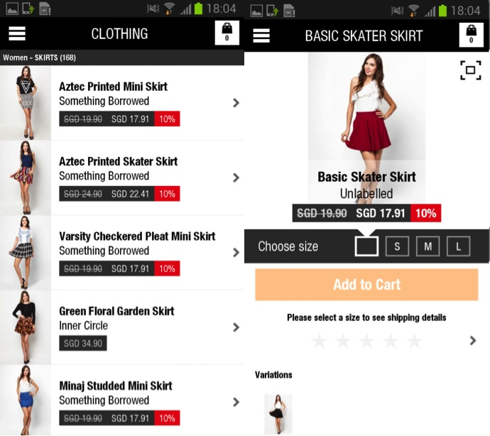 Zalora Android Screenshot