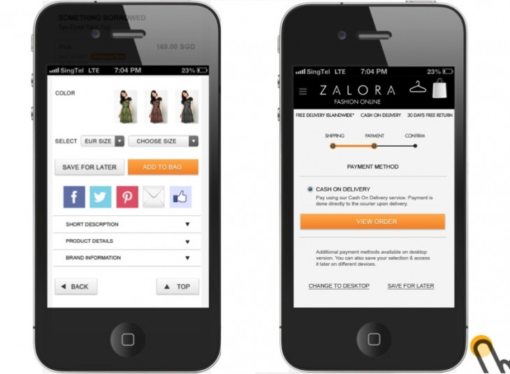 Zalora Site Screenshot