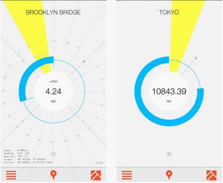 a10 Forget maps, Crowsflight for iPhone will point you in the right direction