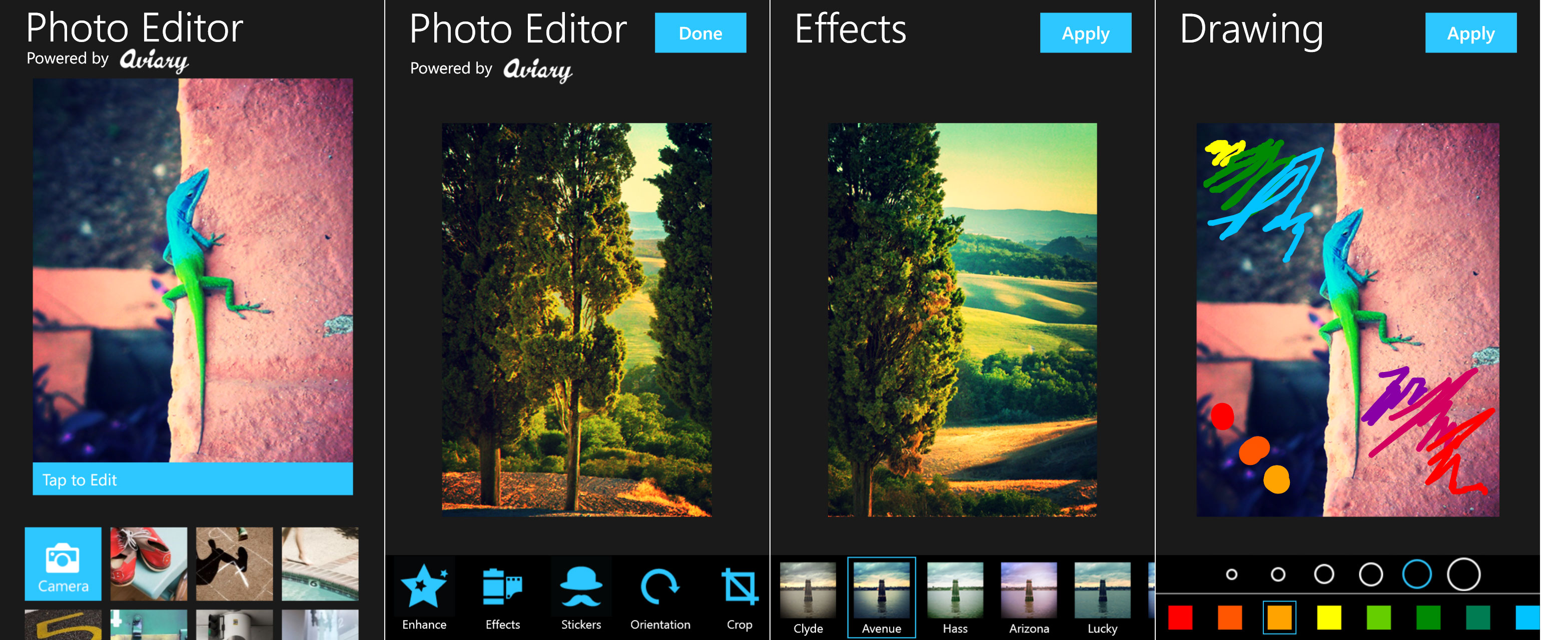 Aviary Screenshots