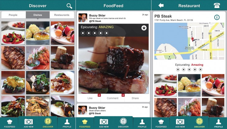 epicurator01 730x415 Epicurator is a photo centric app to help you find new dining experiences