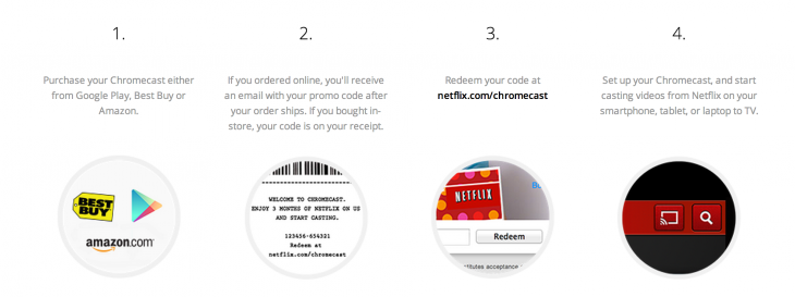google chromecast netflix 2 730x273 Googles free Netflix promotion for Chromecast sells out in a day
