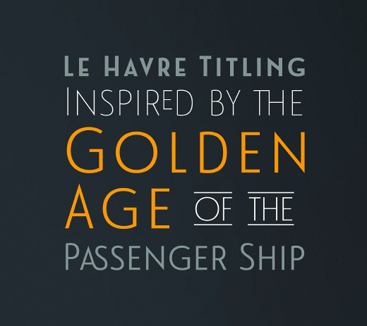 le havre titling 30 of the most beautiful typefaces released last month
