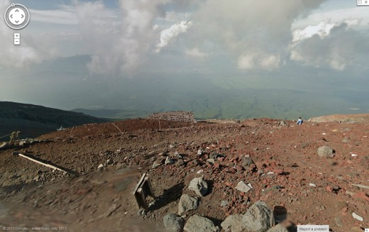 mt fuji1 520x327 Google Street View scales Japans iconic Mount Fuji