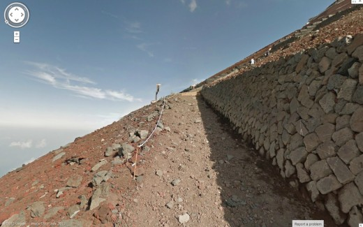 mt fuji4 520x325 Google Street View scales Japans iconic Mount Fuji