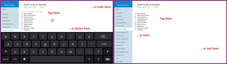onenote keyboard 730x207 Microsofts OneNote for Windows 8 gets support for Office 365 accounts, dismissible touch keyboard, and more