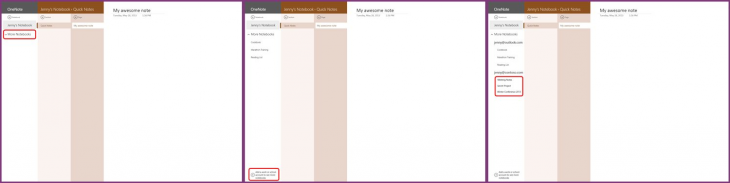 onenote office 365 730x183 Microsofts OneNote for Windows 8 gets support for Office 365 accounts, dismissible touch keyboard, and more