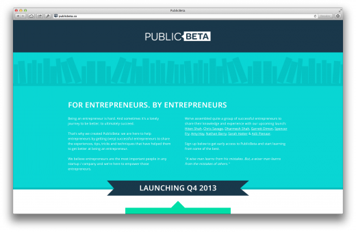 publicbeta1 520x339 Issue v1.7   Startups to follow