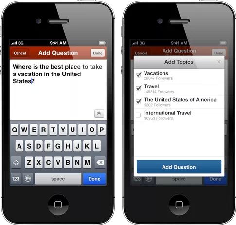 questionaddflow Quora beefs up its iOS app with draft answer saving and predictive question suggestions