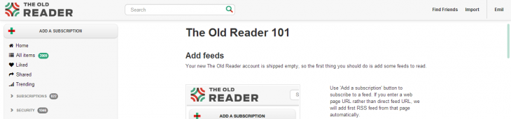 the old reader 730x171 The Old Reader to close public site in two weeks, users who joined before Google Reader axing news can stay