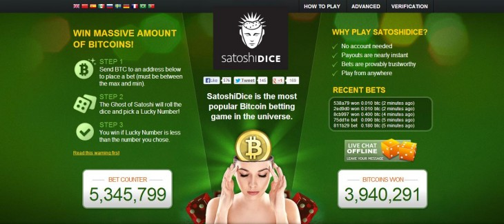 xe04rKi 730x325 First major Bitcoin acquisition sees gambling site SatoshiDice sold for $11.5 million