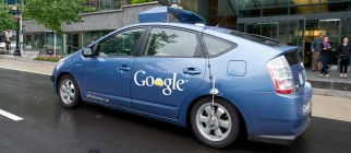 The Google self-driving car maneuvers th