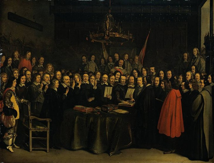 785px The Ratification of the Treaty of Munster Gerard Ter Borch 1648 730x557 Tech pioneer Vint Cerf on the age of context and why you can't be a citizen of the Internet