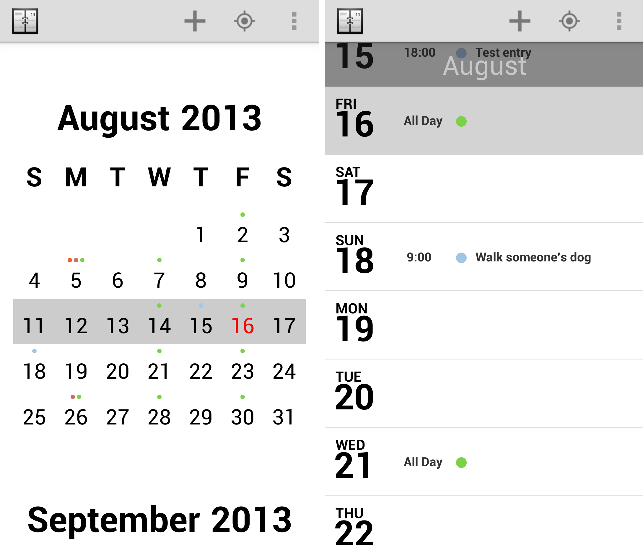 Calendar Vertical List : Of the best calendar apps available for your android