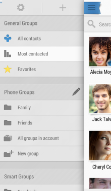 B. Contacts Sidebar 220x376 4 million users on, Contacts+ takes its popular contact managment app to iPhone