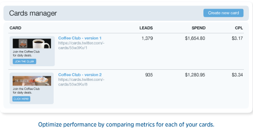 CardsManager illo 8 27 Twitters Lead Generation Card opens to all advertisers with a new layout, analytics, and more