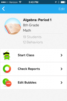 ClassDojo mobile class page2 220x330 ClassDojos mobile app now lets teachers manage, edit, share and sync student behavior reports