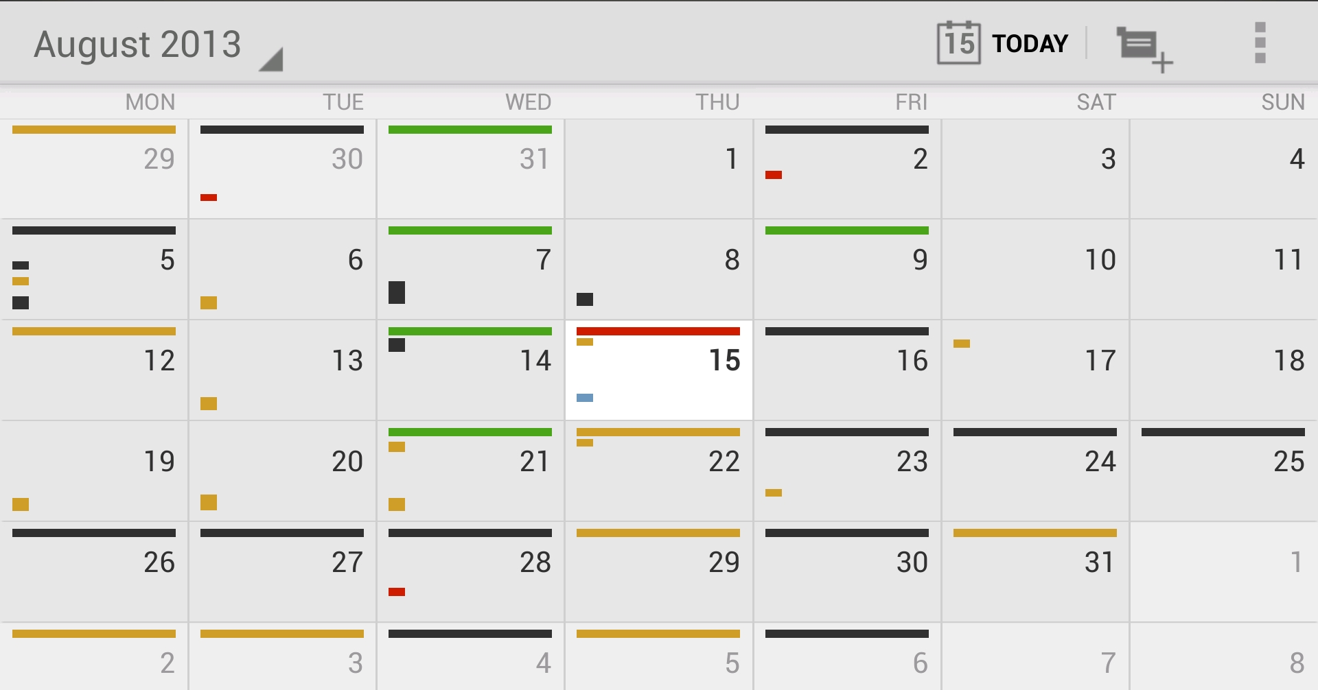 Monthly Calendar App : Of the best calendar apps available for your android