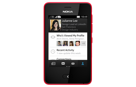 LinkedIn Asha 2 LinkedIn arrives for Nokias full touchscreen Asha handsets