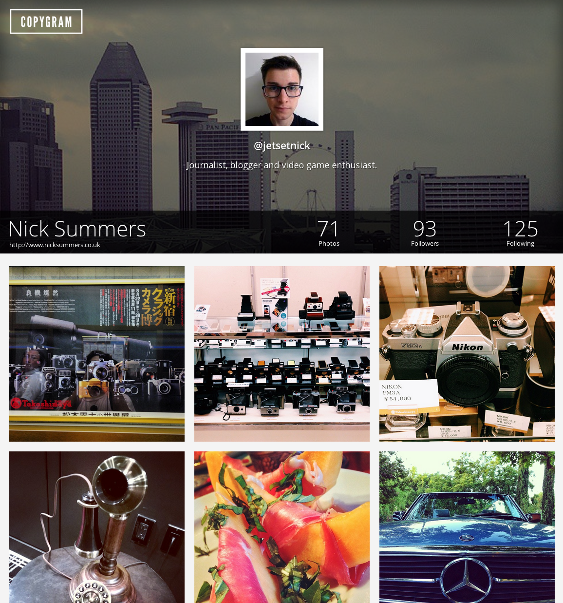 Screen Shot 2013 08 23 at 13.51.17 Copygram offers up a new, more beautiful way to browse Instagram on the Web