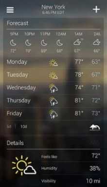 Screenshot 23 220x384 Yahoo announces an all new weather app for Android, with more data and lock screen widget