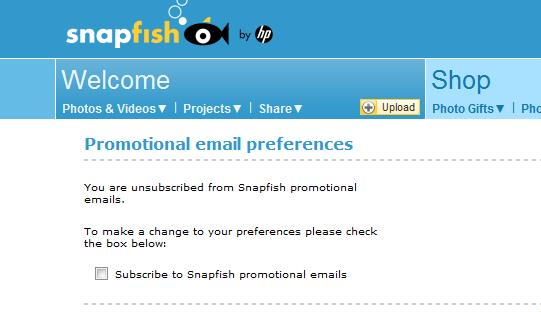 SnapFish No means no: The quest to curb marketing spam when youve already opted out