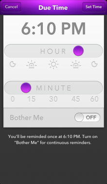 Time Setting 220x376 Apple Design Award winning Finish brings a host of updates to its deadline based to do list app
