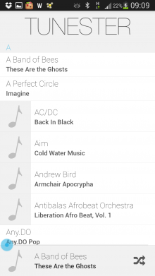 a2 220x391 Tunester: A minimalist, gesture based music player for Android