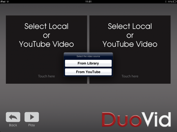 a5 730x547 DuoVid for iOS lets you play two videos side by side from your library or YouTube