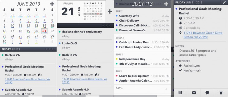 agenda screenshot 730x310 10 of the best iOS calendar apps