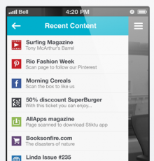 app recent 1 220x230 Layar augments its reality with a redesigned mobile app, website and logo
