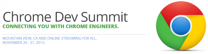 chrome dev summit 730x191 Google announces Chrome Dev Summit, a two day developer event on November 20 and 21 in Mountain View