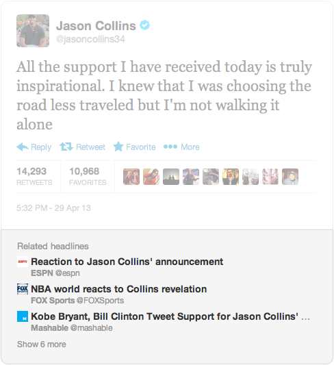 headlines image JasonCollins More context: Twitter adds Related Headlines section for embedded tweets