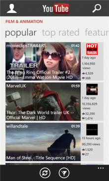 microsoft youtube 220x366 Microsoft brings back YouTube app for Windows Phone after working with Google to enable ads