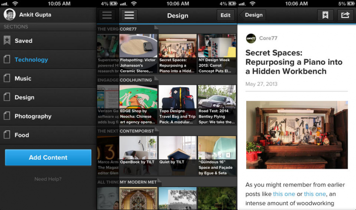 pulse ios 730x431 LinkedIn updates Pulse with option to preview sources, better and faster search, new curated recommendations