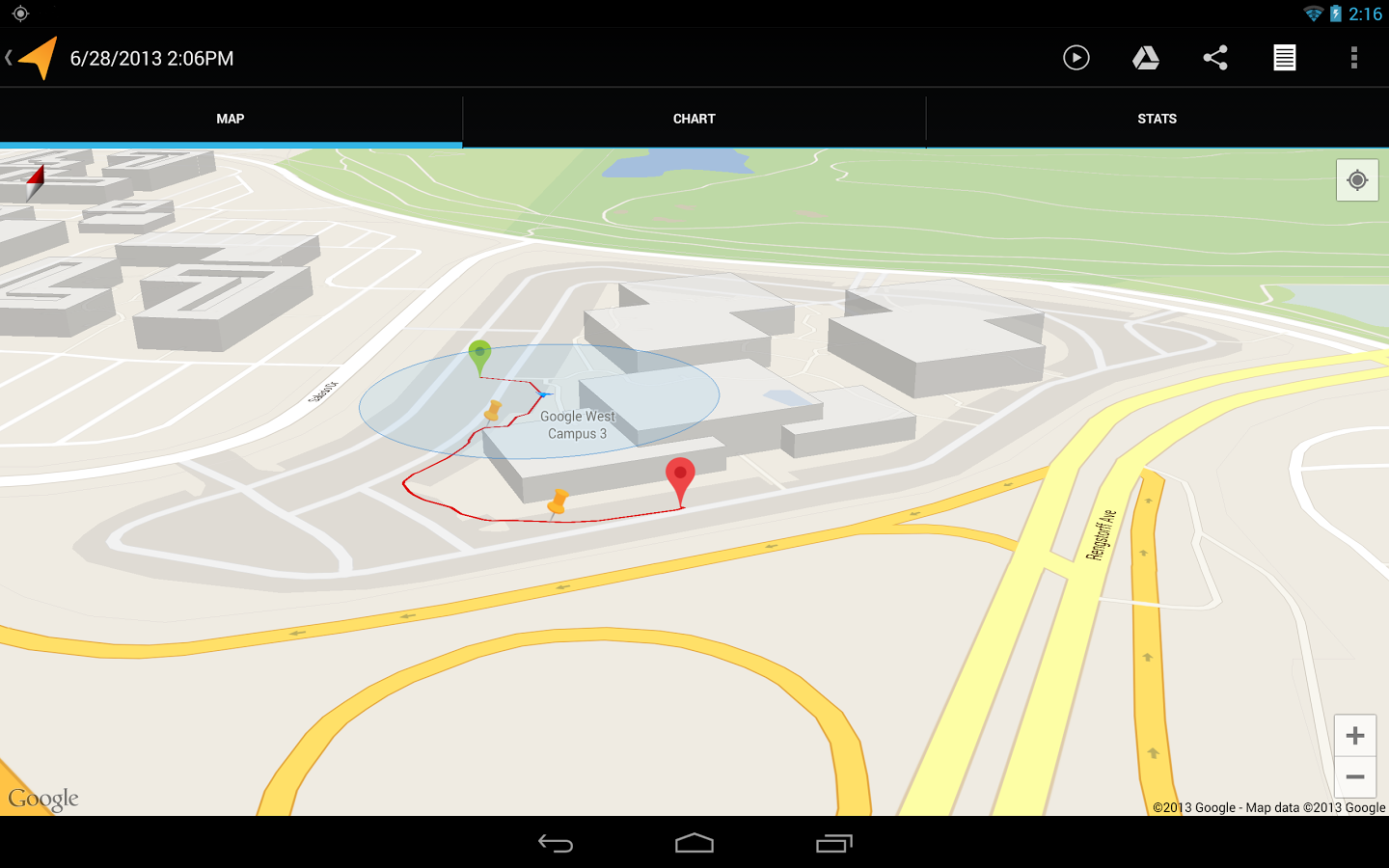 unnamed Google updates My Tracks app for Android with revamped stats view and more precise location tracking