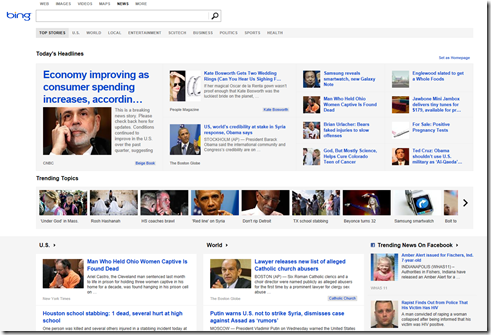 Bing news Microsoft revamps Bing News with trending stories from Facebook and Twitter