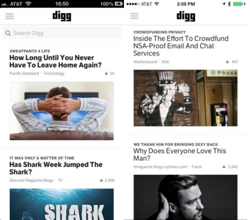Digg Before and after: The best iOS 7 app redesigns