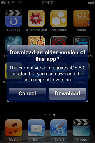 DsGdm2b Apple begins allowing users running legacy iOS builds to download older versions of apps