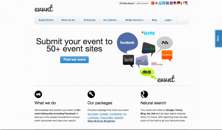 Evvnt 730x428 10 Web apps to help you plan and promote a great event