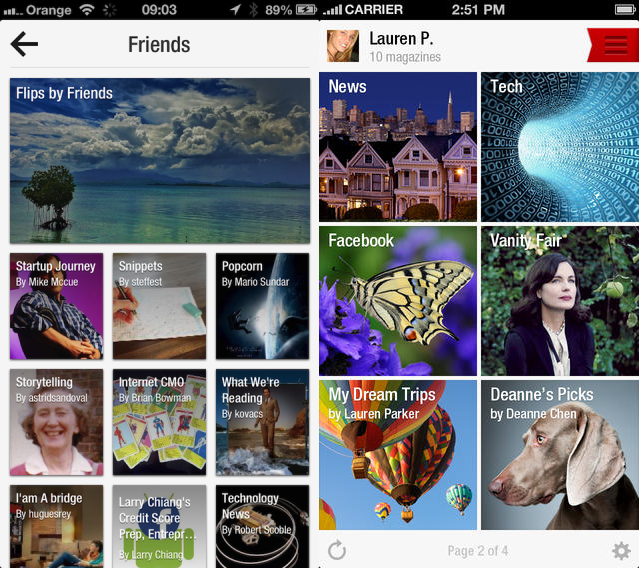 Flipboard compared Before and after: The best iOS 7 app redesigns