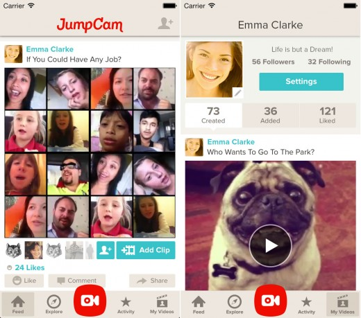 JumpCam4 520x459 JumpCam for iOS lets you collaborate with others to create videos from multiple clips