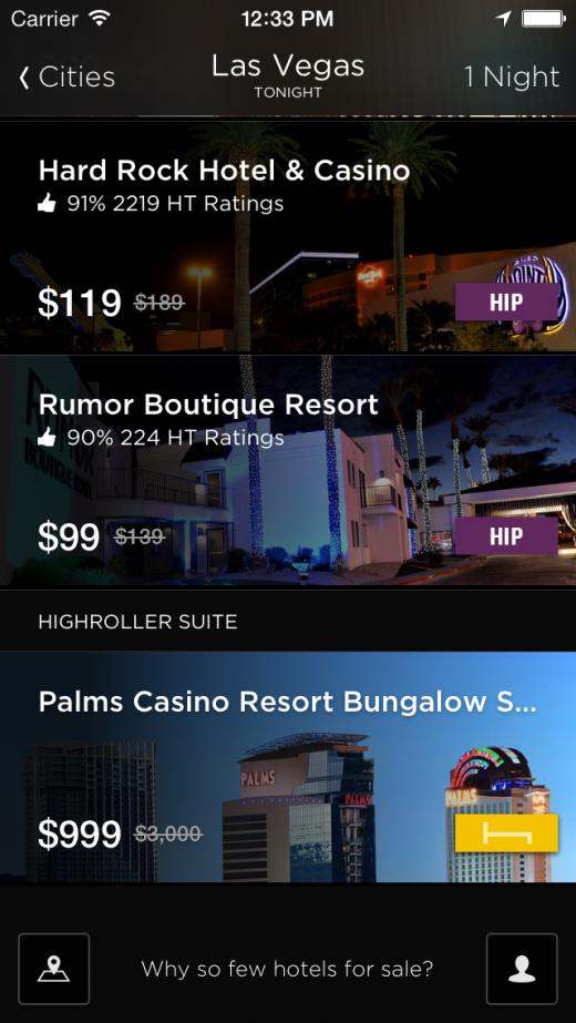 Hotel Tonight Las Vegas Deals